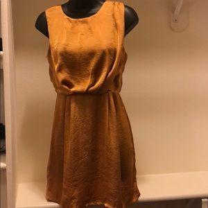 Bar lll gold dress